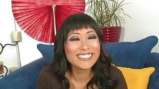 Yuki Mori has interracial sex with a big black cock
