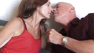 Mature with small tits fucked