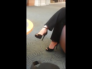 Cute librarian being fucked in library Cute brunette dangles shoes in library