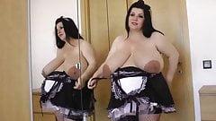 Pregnant BBW maid nude
