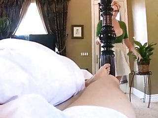 Mum cums me - Sexy mum wakes me up with her huge boobs