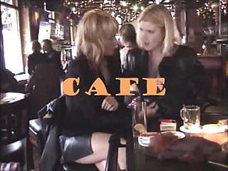 British milf flash Public slut - cafe