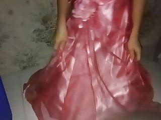 Bridal gown asian designer Pink gown cumshot