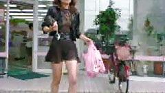 See-through dress & see-through mini skirt