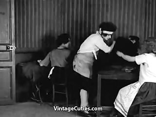 Vintage clothing 1920s Happy teens fuck and spank each other 1920s vintage