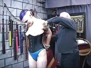 Women spanking men thumb gallery Bdsm goth chick gets bound, spanked and nipples pinched by two men in chamber