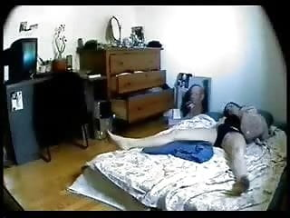 Cought my sister masturbating to porn - Hidden cam catches my sister masturbating in her room