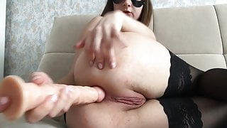 Striptease of an 18 year old student periscope anal vaginal