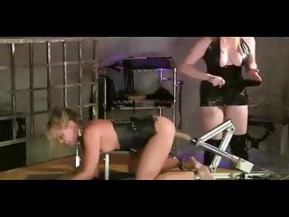 Femdom fuck machine Trisha uptown lezdom spanking and machine fucked