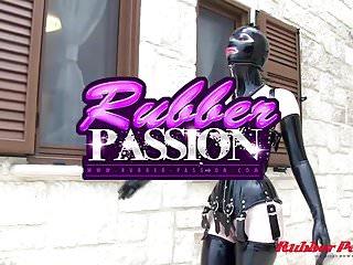 Latex corset fetish models - Corseted doll