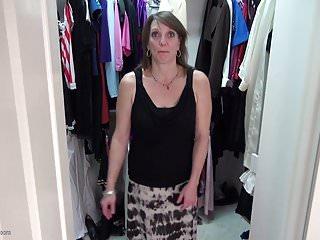 Geisha wardrobe item Amateur mom fucks her hungry cunt in wardrobe