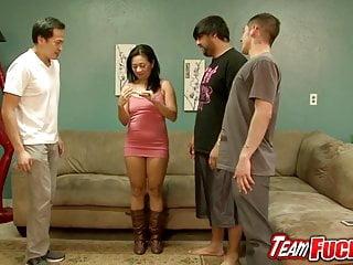 Milf fucks girl video Team fucks girl - oriental cougar lucky starr takes 3 cocks
