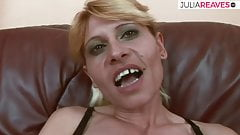Blonde, very slim milf is allowed to fuck with students