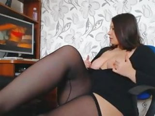 Porno celebrits - A woman with beautiful curves masturbates watching a porno