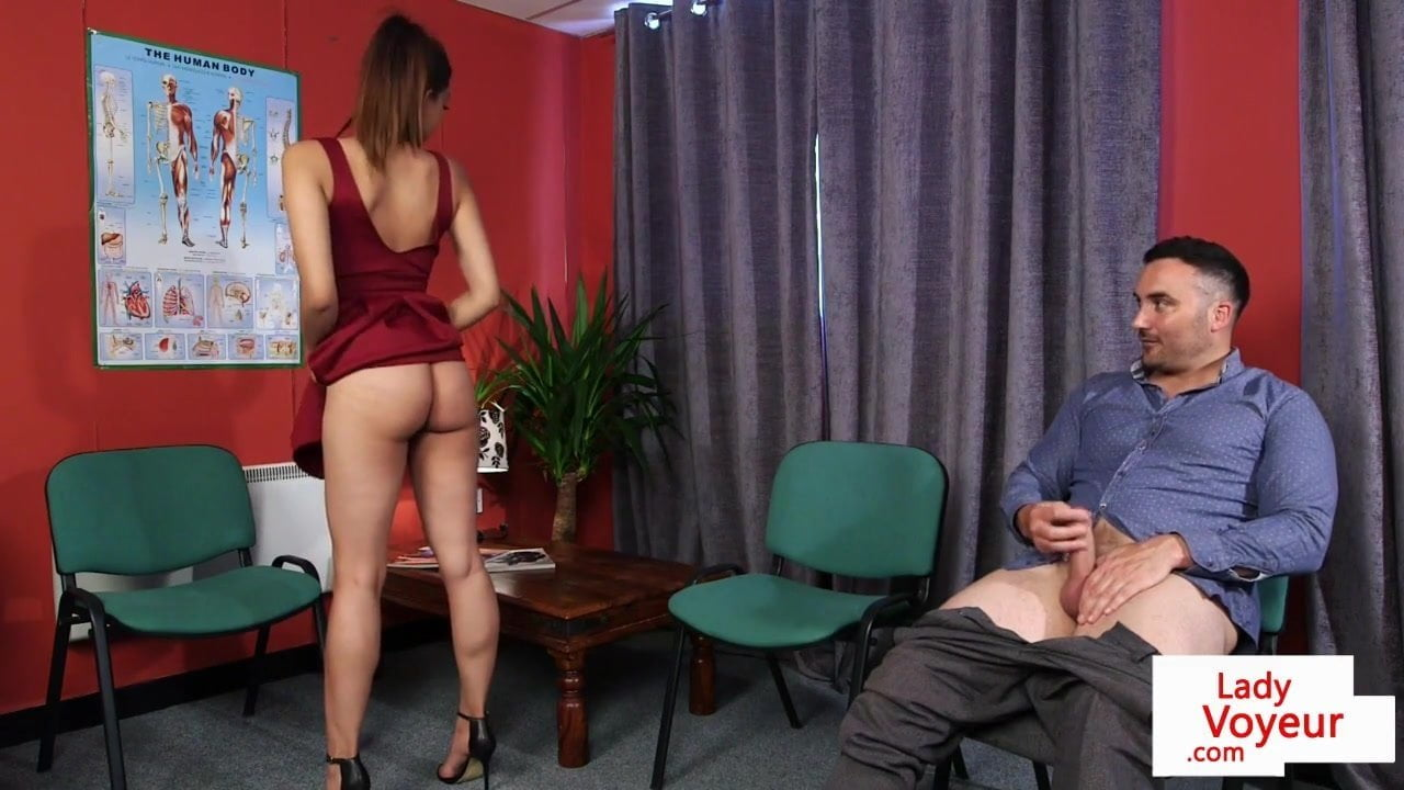 Classy Instructing Babe Helps Her Sub Guy