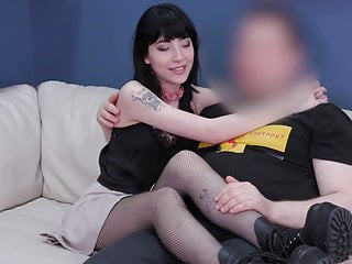 Goth babe nude - Teen goth babe brutally ass fucked and punished with piss