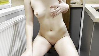 Lonely pussy masturbation with vibrator