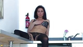 Beautiful MILF and wife bating her sweet pussy