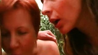 Amateur young and old hardcore threesome with cumshot