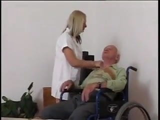 What are role of nurses in adult day care - Young nurse takes care of grandpa