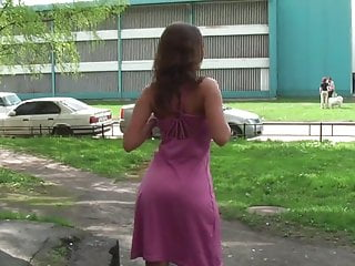 Teen girls public nude Russian girl poses nude in the streets