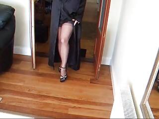 Garterbelt naked - Lady lucy in a black garterbelt and stockings