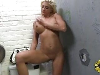 Black thug man nude Leya falcon fucked by two black thugs via glory hole
