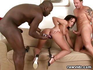 Slags anal Linet slag hardcore interracial threesome