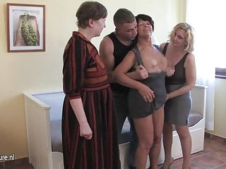 Sluts got balls Three cockhungry mature sluts got served