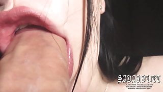 ASMR, Extreme Super Close-Up Blowjob, HUGE ORAL CREAMPIE