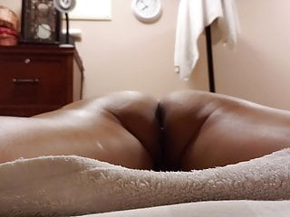Hot pussy spread out Spread out on the massage table