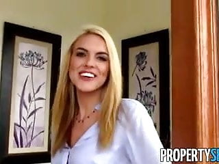 Peer-to-peer porn client Propertysex - stunning blonde realtor fucks client homemade