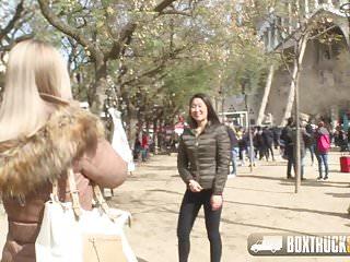 Public lesbian bdsm Hot sicilia surprises tourist katana with public lesbian sex