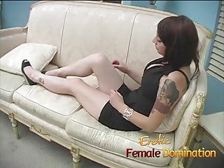 Ass gets kicked Loser gets his balls kicked by a hot dominant brunette