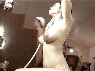Busty asians woman Busty asian woman bathing