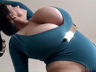 Milena-velba huge tits giant boobs Milena workout