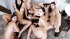 Czech VR 387 - Sevensome With Six Horny Sluts in VR!