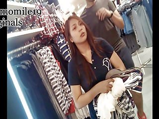 Asian funny chic Boso upskirt voluptious chic w her bf