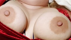 Milf orgasms on cock while filled with his thick creampie