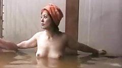 Japanese actress Kaoru Sugita take hot spring
