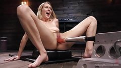 Blonde Girl Next Store Cadence Lux Squirts from Fucking Mach