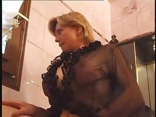Bib boobs showering voyeur Mature with bib boobs