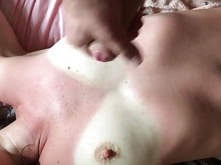 Big white tits video I want you to jerk off on my white tits