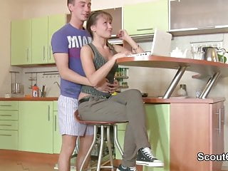 Spank parents Skinny step-sister get fucked by not brother when parents