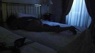 crossdresser stroking nude  high heels to be assfucked