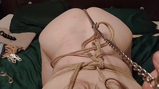 Bound, hooked and fucked