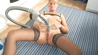 German wife Heike has a Vacuum cleaner orgasm