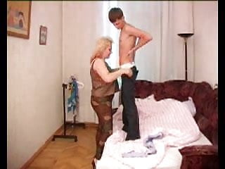 Hairy russian mom fucke boy - Big tits russian mom teaches all to young boy