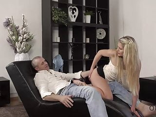 Wife isnt very into sex Old4k. bashful girl isnt against sex with older gentleman