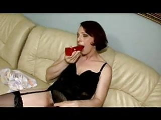 Mature in sussies - Hairy mature in black stockings